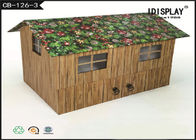 Recycled Cardboard House Shaped Gift Box Packaging For Product Promotion