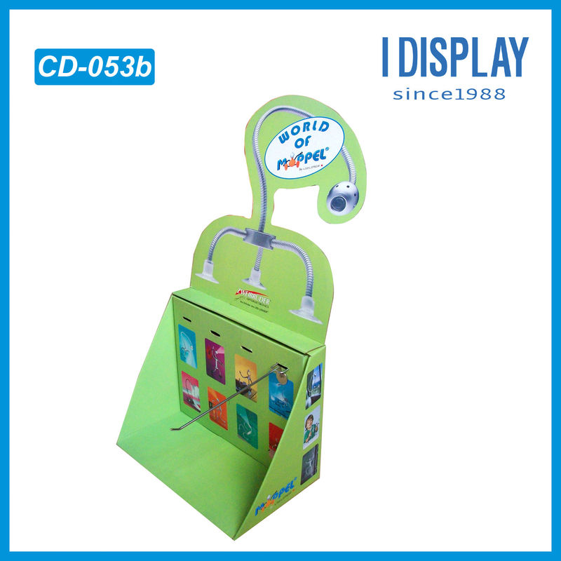 Special Design PDQ Cardboard Countertop Displays With Pegs to Kid Toys , Eco friendly